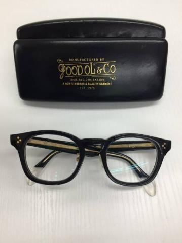 グッドオル セルフレーム黒メガネ